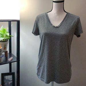 Reebok Heather Gray V-Neck Shirt